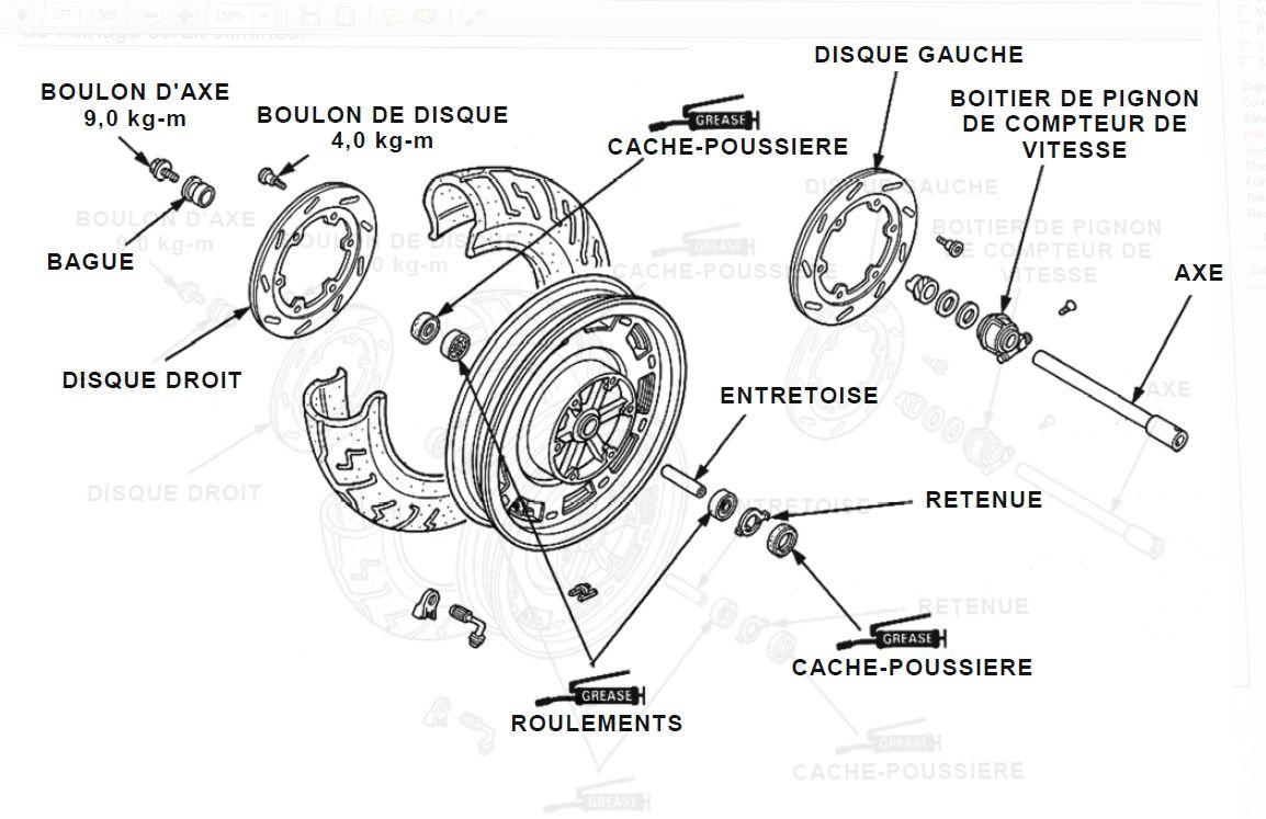 Goldwing 1500 - Démontage roue avant + plaquettes