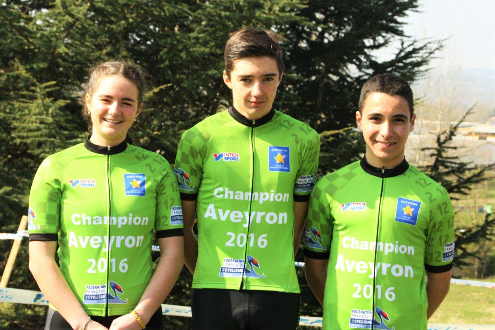 3 CHAMPIONS D'AVEYRON