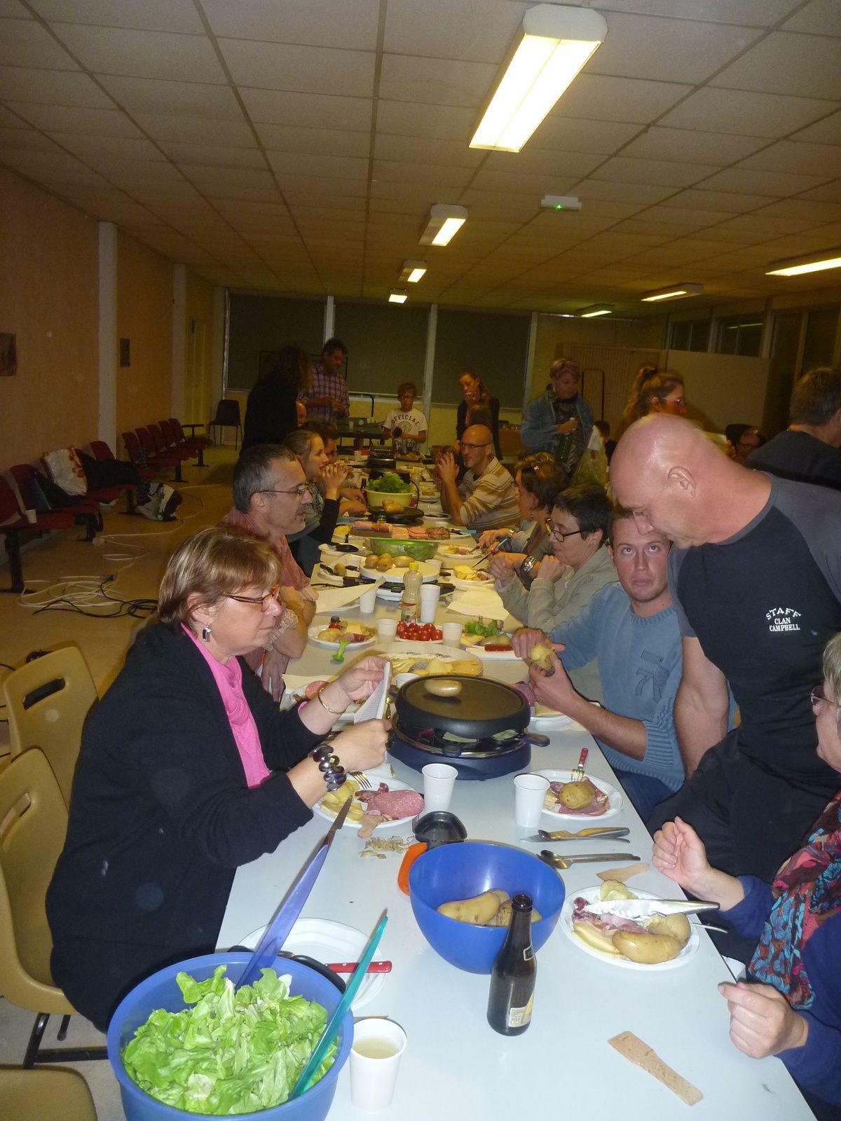 Remerciements à Claude et raclette party