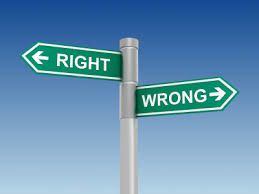 right / wrong