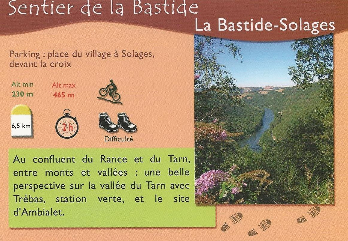 Sentier de la Bastide     La Bastide Solages