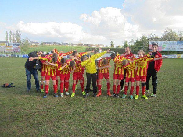 Belle victoire des U14 de Vincent Descarpentries.