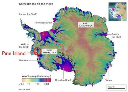 La fin programmée du Glacier du Pin en Antarctique