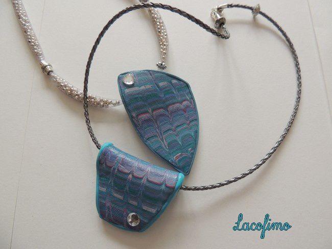 Pour le dernier collier, j'ai fait les perles à la façon d'Hélène Breil.