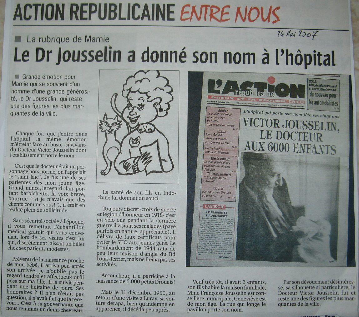 LE &quot&#x3B;BON DOCTEUR&quot&#x3B; VICTOR JOUSSELIN.