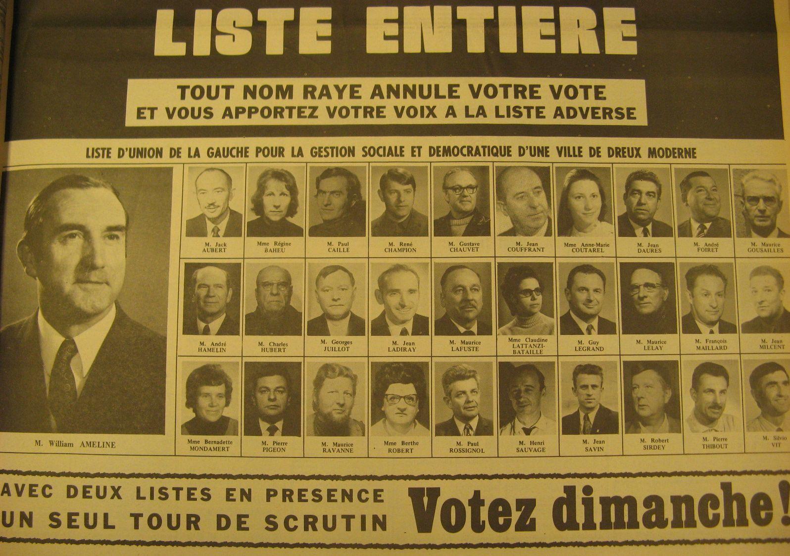 Cliquer sur les listes afin de pouvoir mieux découvrir les visages et noms des candidats.....