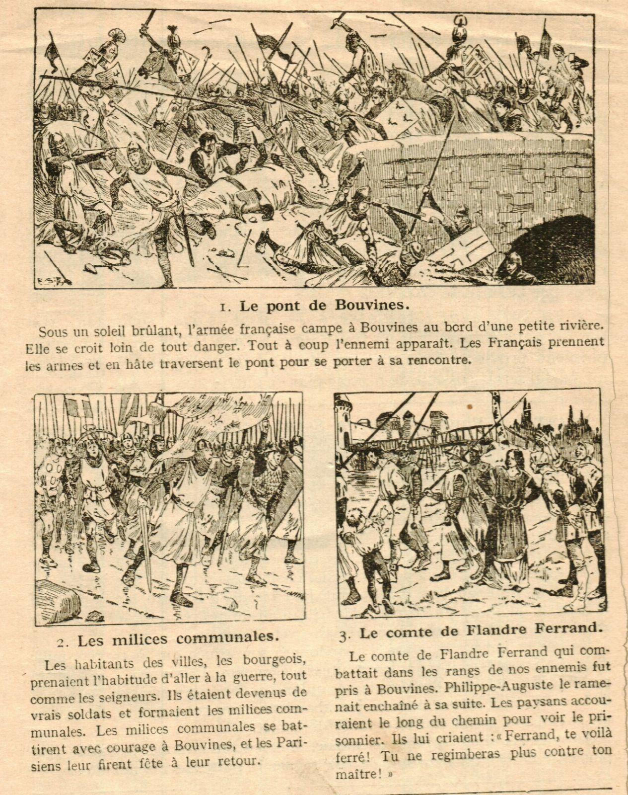 Illustration d'un livre d'histoire de 1890.