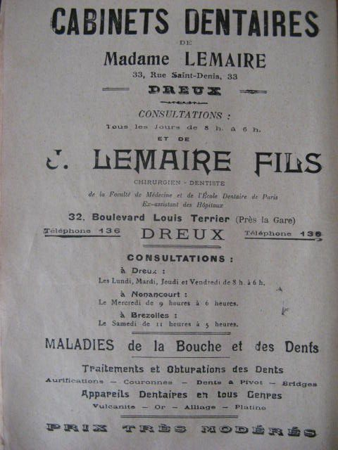 ALMANACHS 1900 - PUBS DENTAIRES.