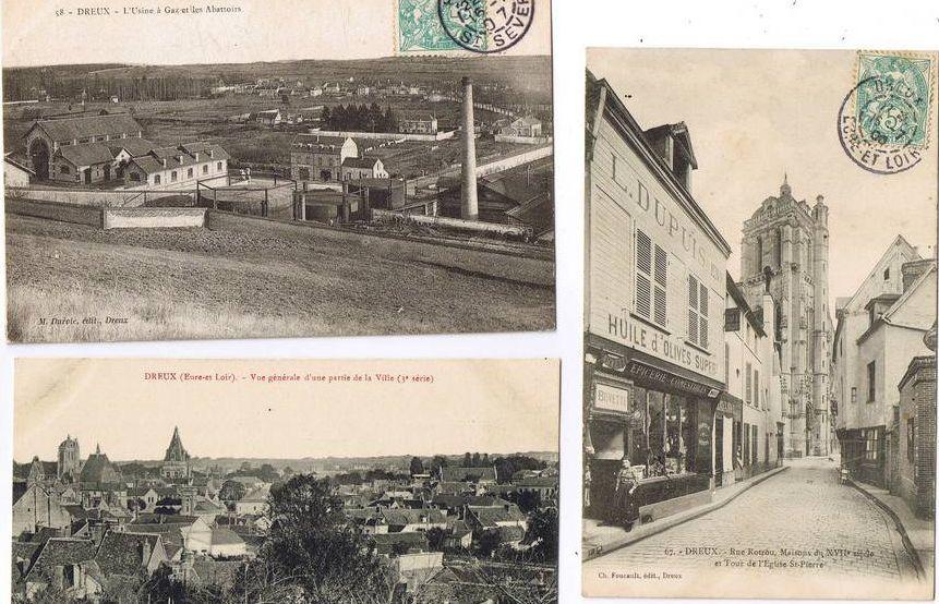 DREUX 1900 -Sous la Pluie.