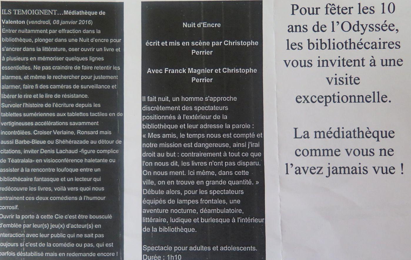 LES  10 ANS DE L'ODYSSÉE-Nuit d'Encre.