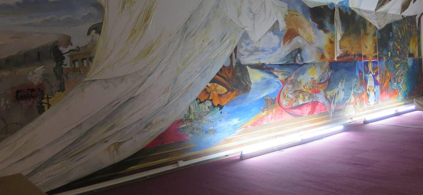 Journées du patrimoine à Dreux- la fresque de l'académie drouaise de billard.