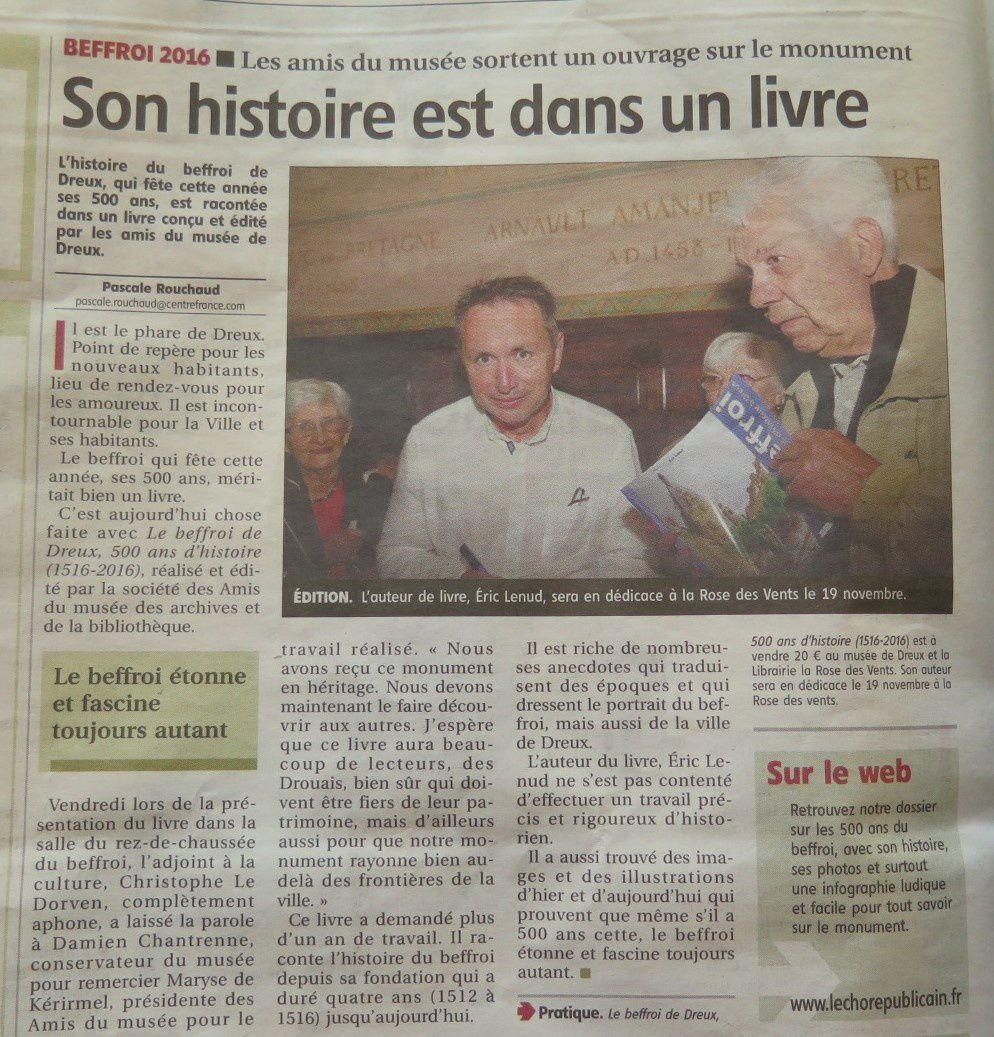 Article de l'Echo Républicain du 17 septembre