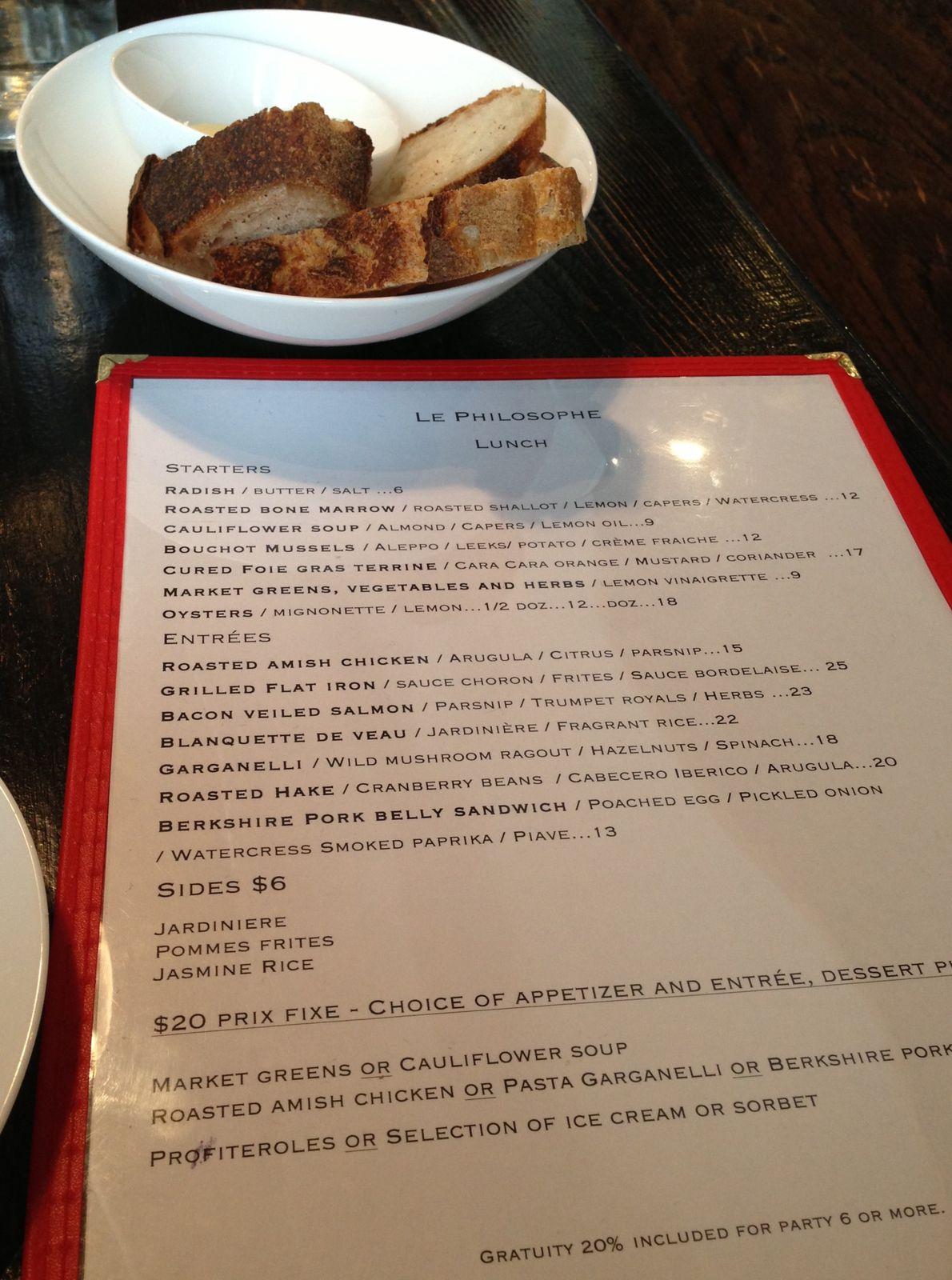 Le Philosophe, restaurant à NYC
