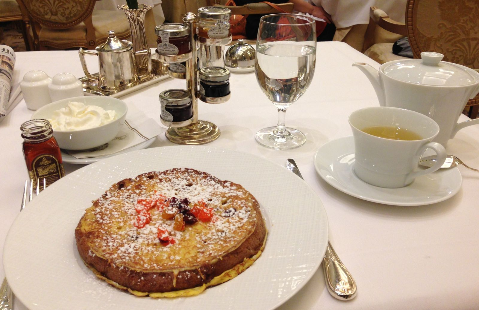 Breakfast at The Plaza, NYC