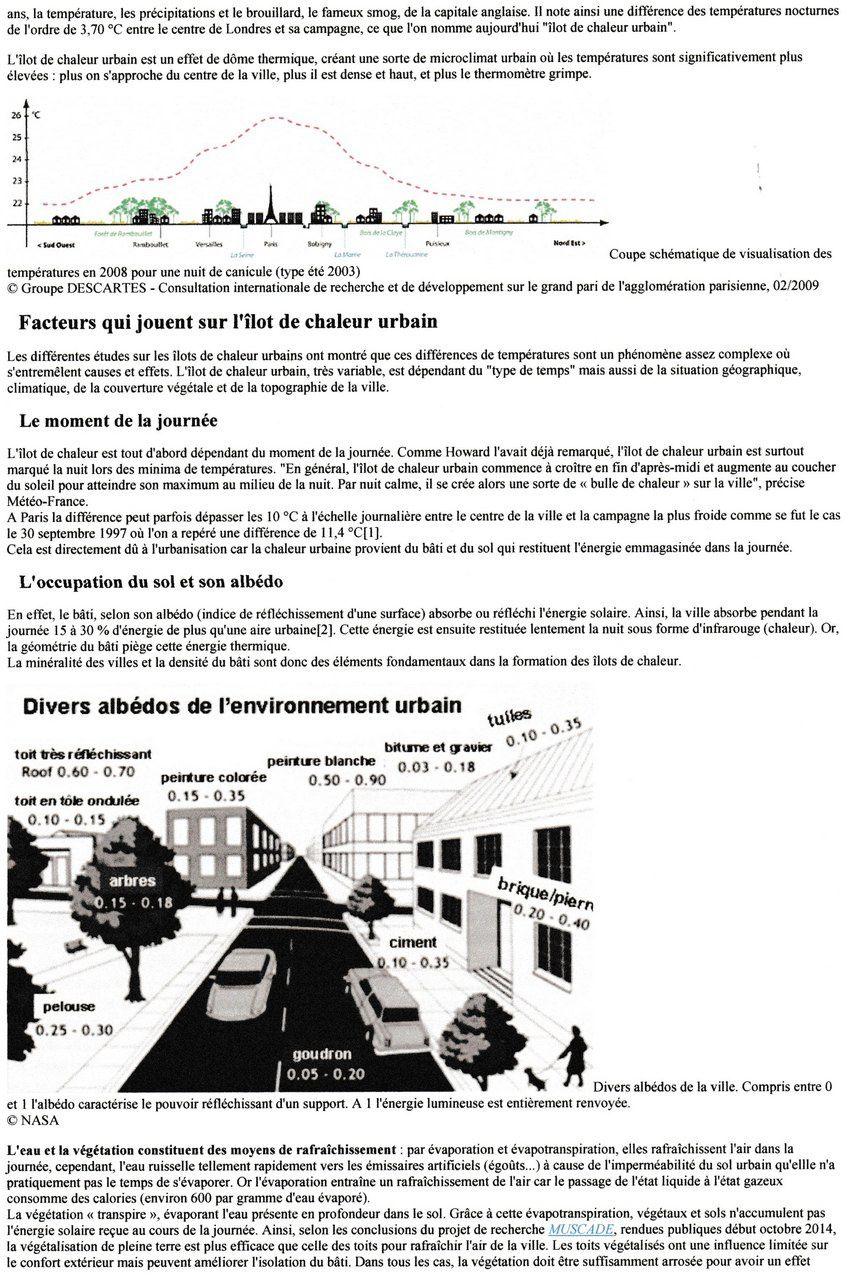 LES ÎLOTS DE CHALEUR URBAINS