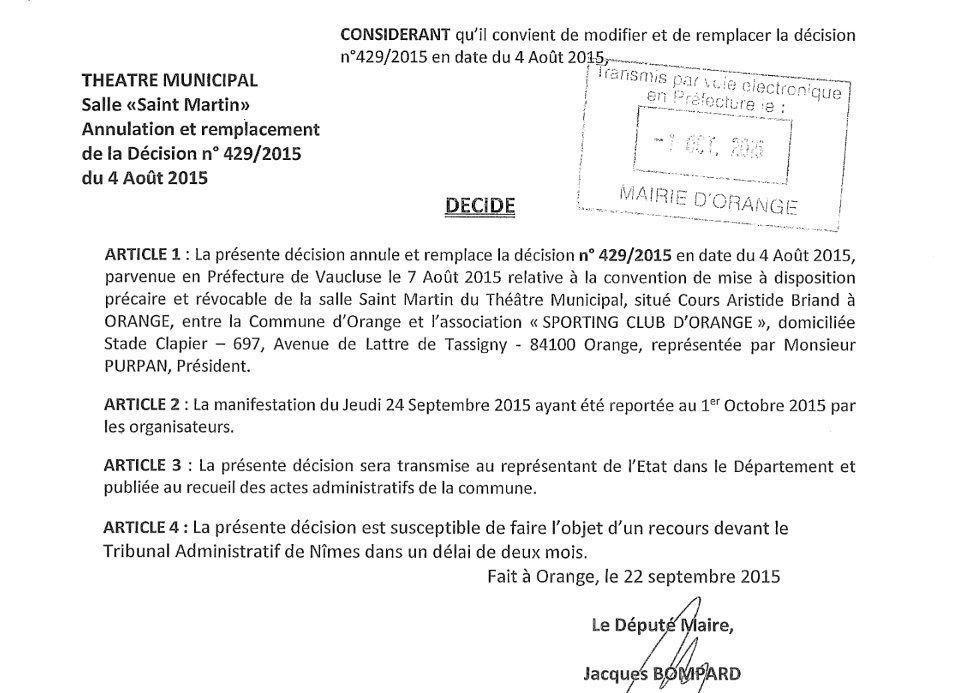 Actes administratifs de septembre en ligne.