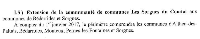 Le nouveau SDCI, validé par la préfecture