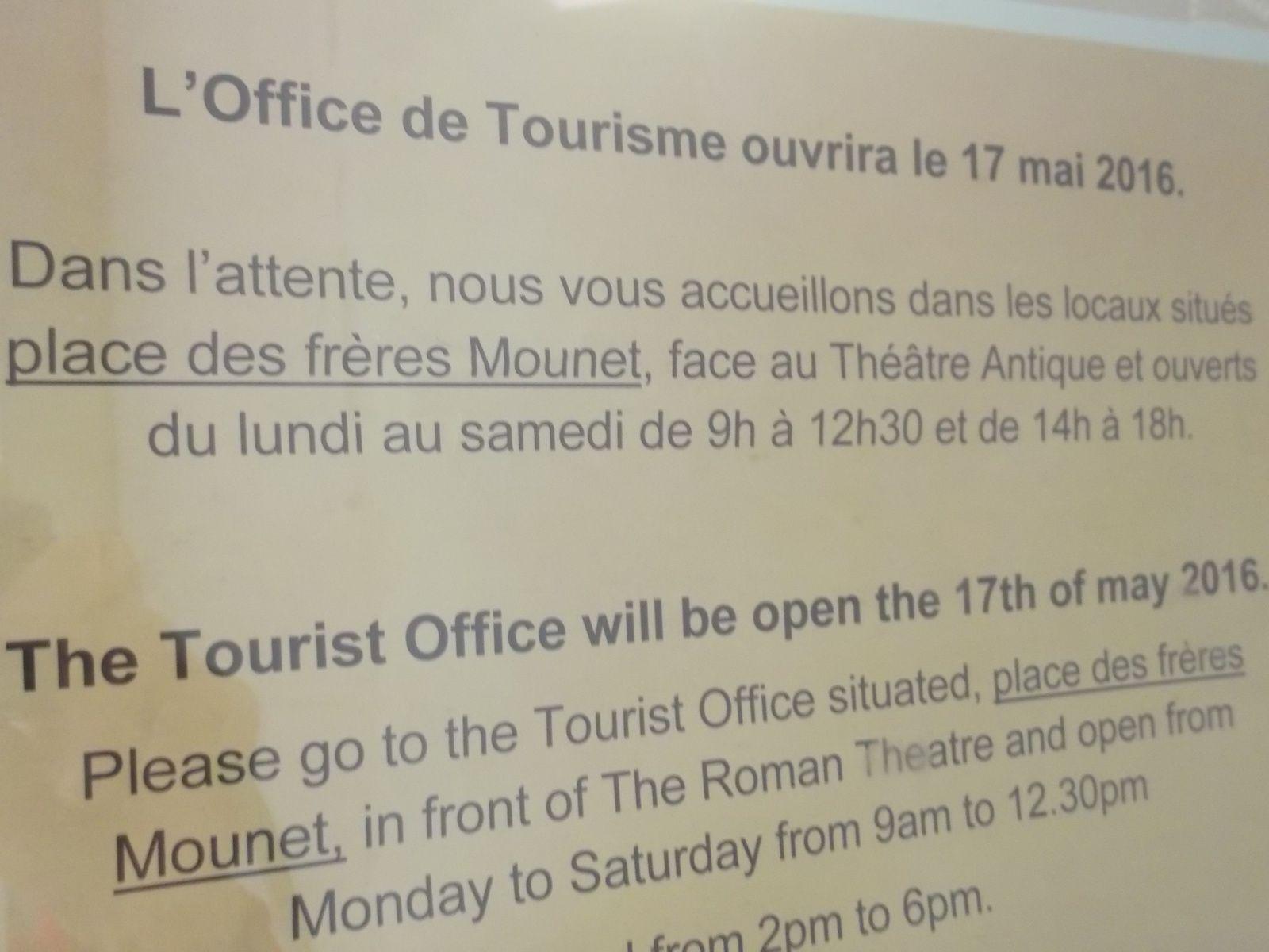 17 mai, le nouvel Office de Tourisme ouvre!