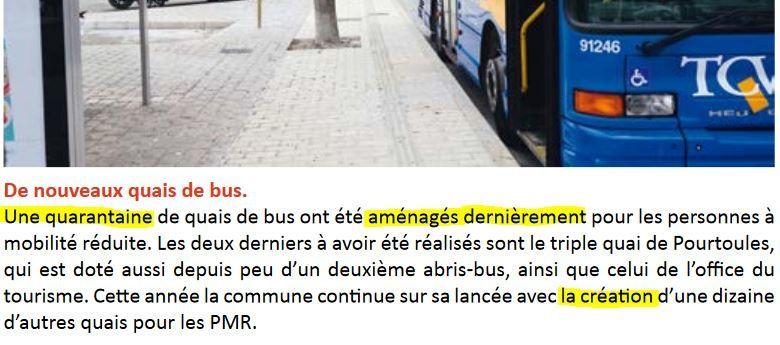 Quais bus, accessiblité PMR, infos à la limite du mensonge.