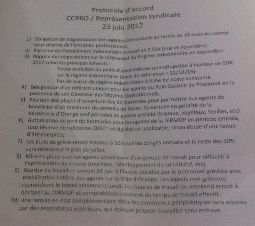 Ramassage des déchets: Protocole d'accord signé avec les grèvistes