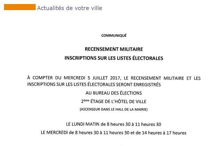 Inscription sur les listes électorales: Restriction des créneaux horaires en catimini?
