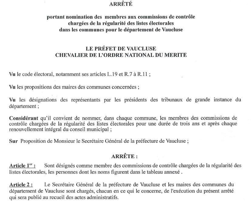 Nomination Commission Controle Listes Electorales Le Blog D Orange