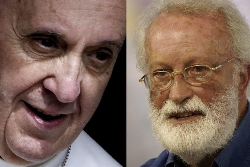 Rencontre extraordinaire du pape François et d'Eugenio Scalfari