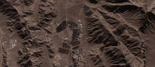 Image satellite fournie par le Conseil National de la Résistance Iranienne (CNRI) - vue d'ensemble de la zone militaire Haft-Tir  et entrée du site clandestin 012 | DR
