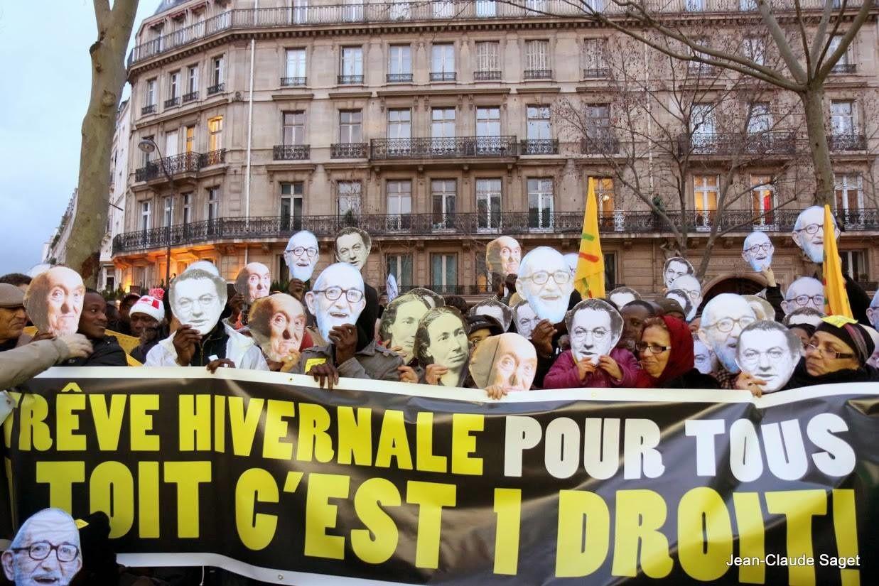 Droit Au Logement : Images de la manifestive du 29 janvier 2014