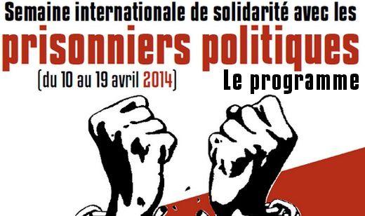 Semaine internationale de solidarité avec les prisonnières et les prisonniers politiques.