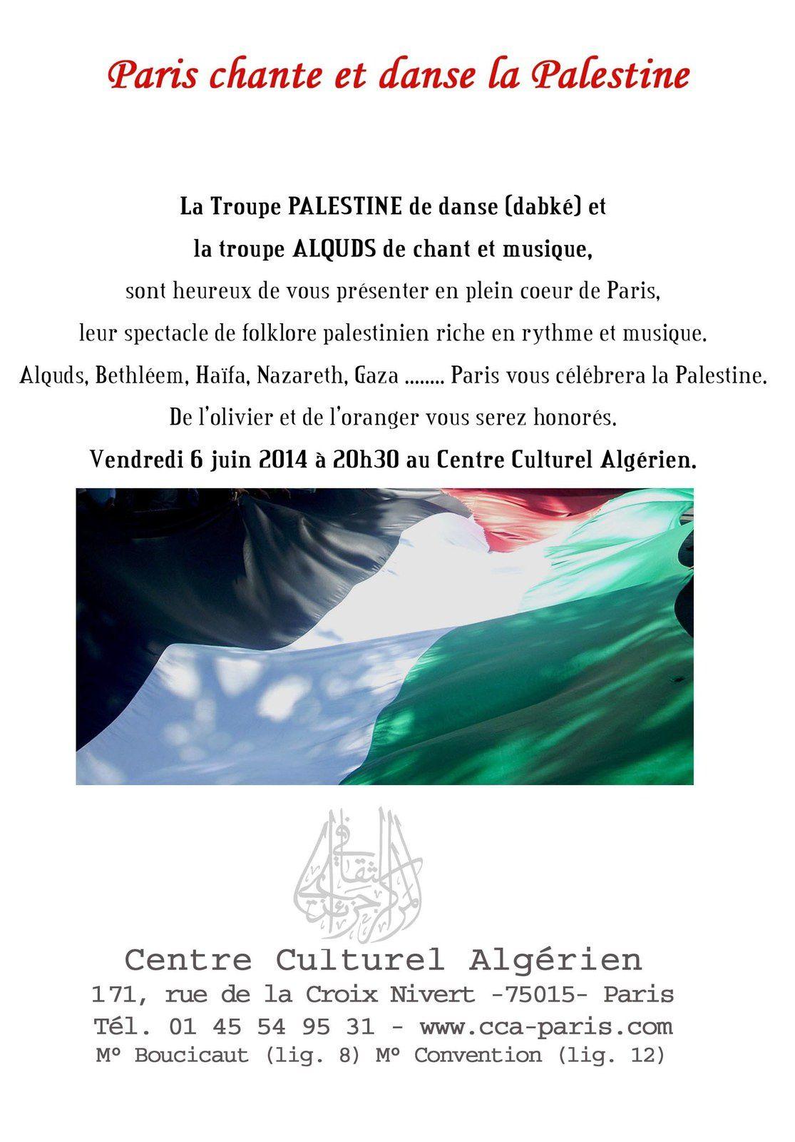 Paris chante et danse la Palestine