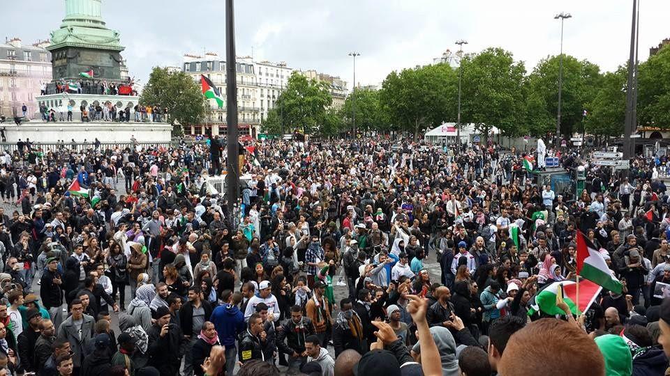 &quot&#x3B;A Paris, la pluie tombe. A Gaza, c'est les bombes !!&quot&#x3B;