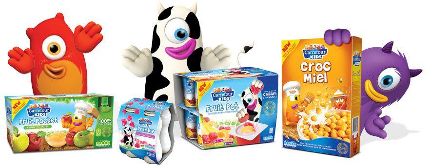 Où trouver les symboles : Carrefour kids