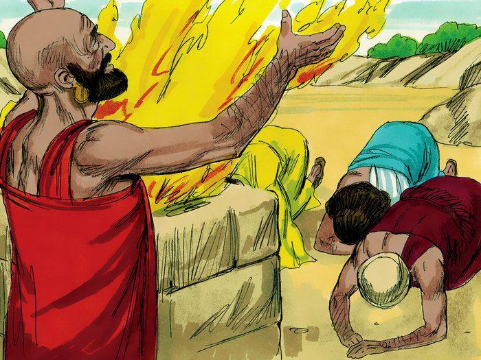 Après avoir adressé ces paroles à Job, l'Eternel dit à Eliphaz de Théman: «Je suis en colère contre toi et contre tes deux amis parce que vous n'avez pas parlé de moi correctement comme l'a fait mon serviteur Job.