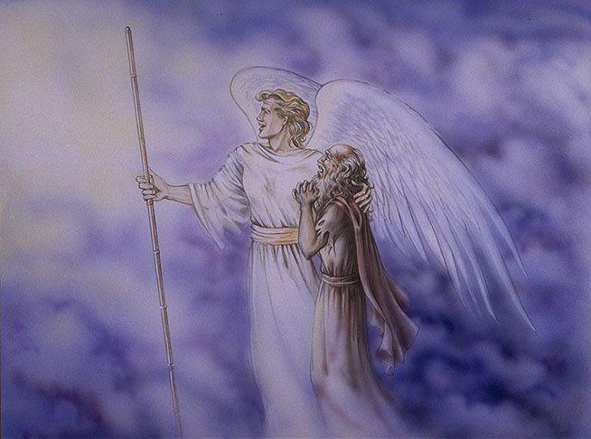 Jean conduit par l'ange