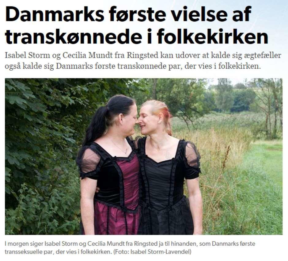 Premier mariage gay dans une église luthérienne au Danemark