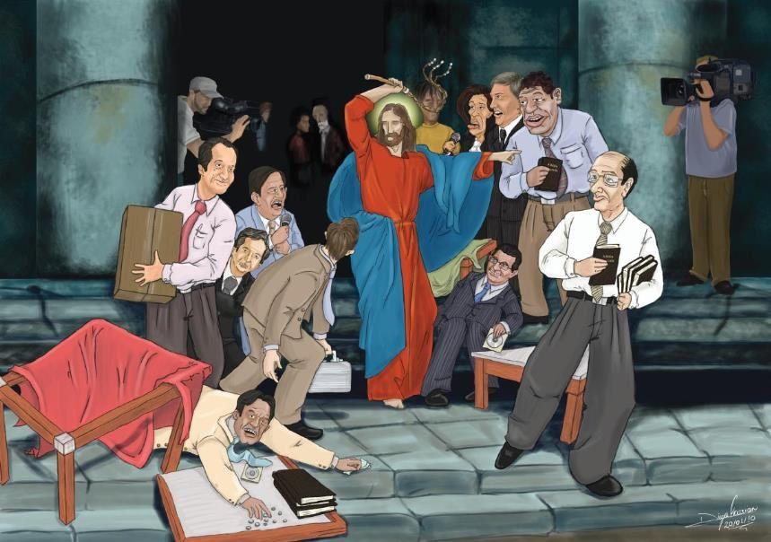 Quand l'Eglize fait honte : Les vendeurs modernes du temple