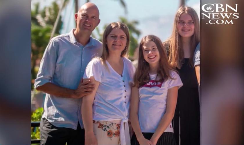 Torben Sondergaard et sa famille (photo CBN news)