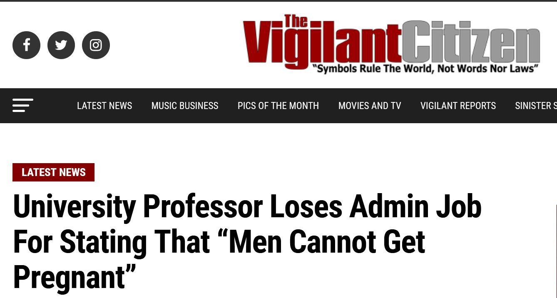 Un professeur d'université perd son poste d'administrateur pour avoir déclaré que «les hommes ne peuvent pas tomber enceintes»