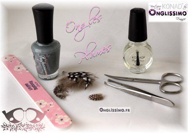 Plume sur ongle by Konad onglissimo