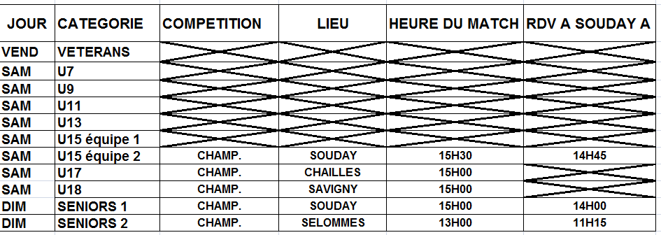 Compétitions d uweek-end du 17/09