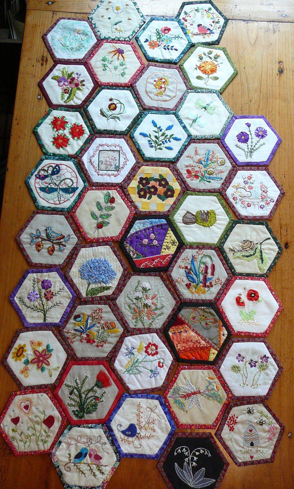 40  hexagones