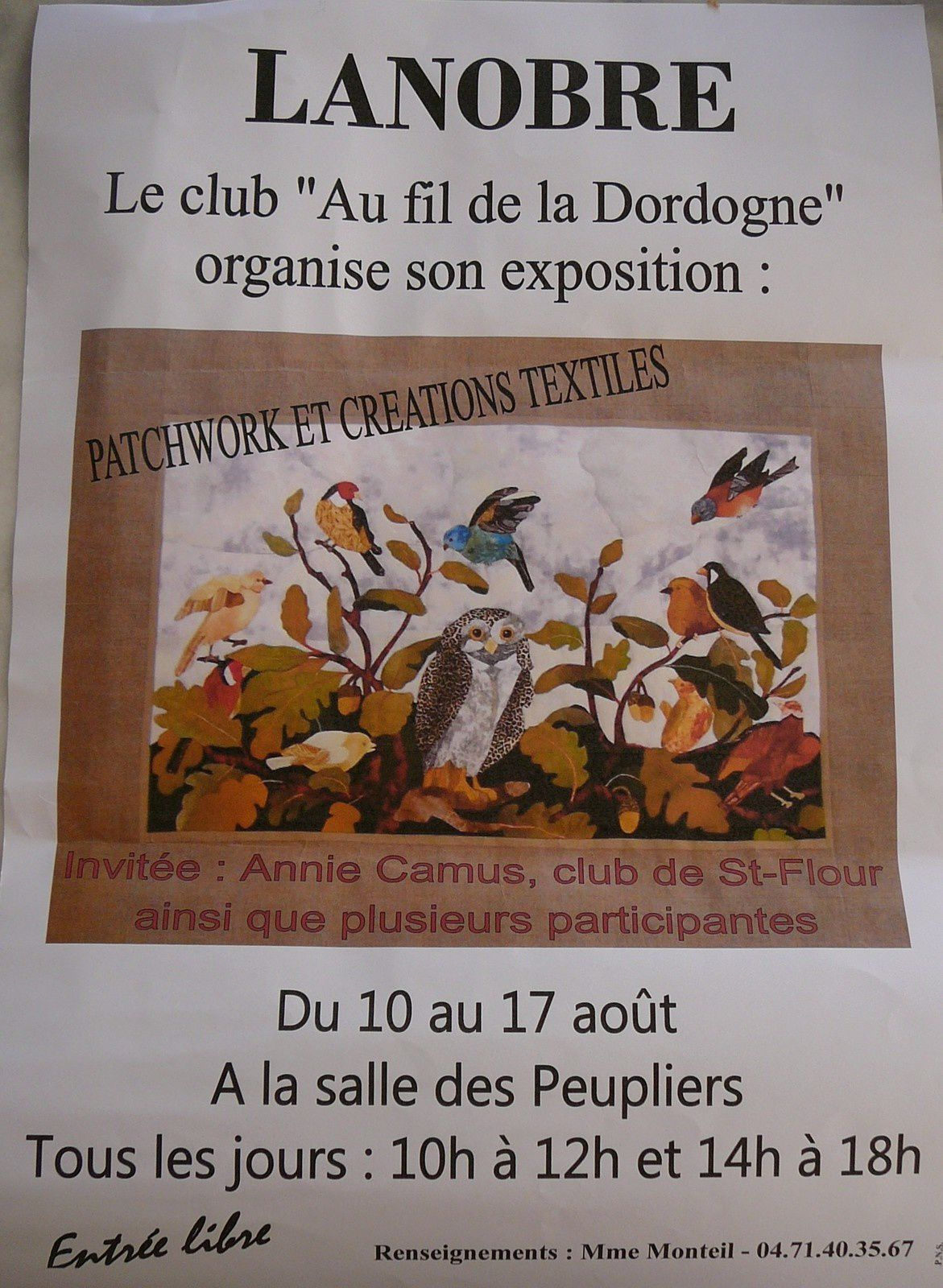 Expo  à Lanobre (Cantal)