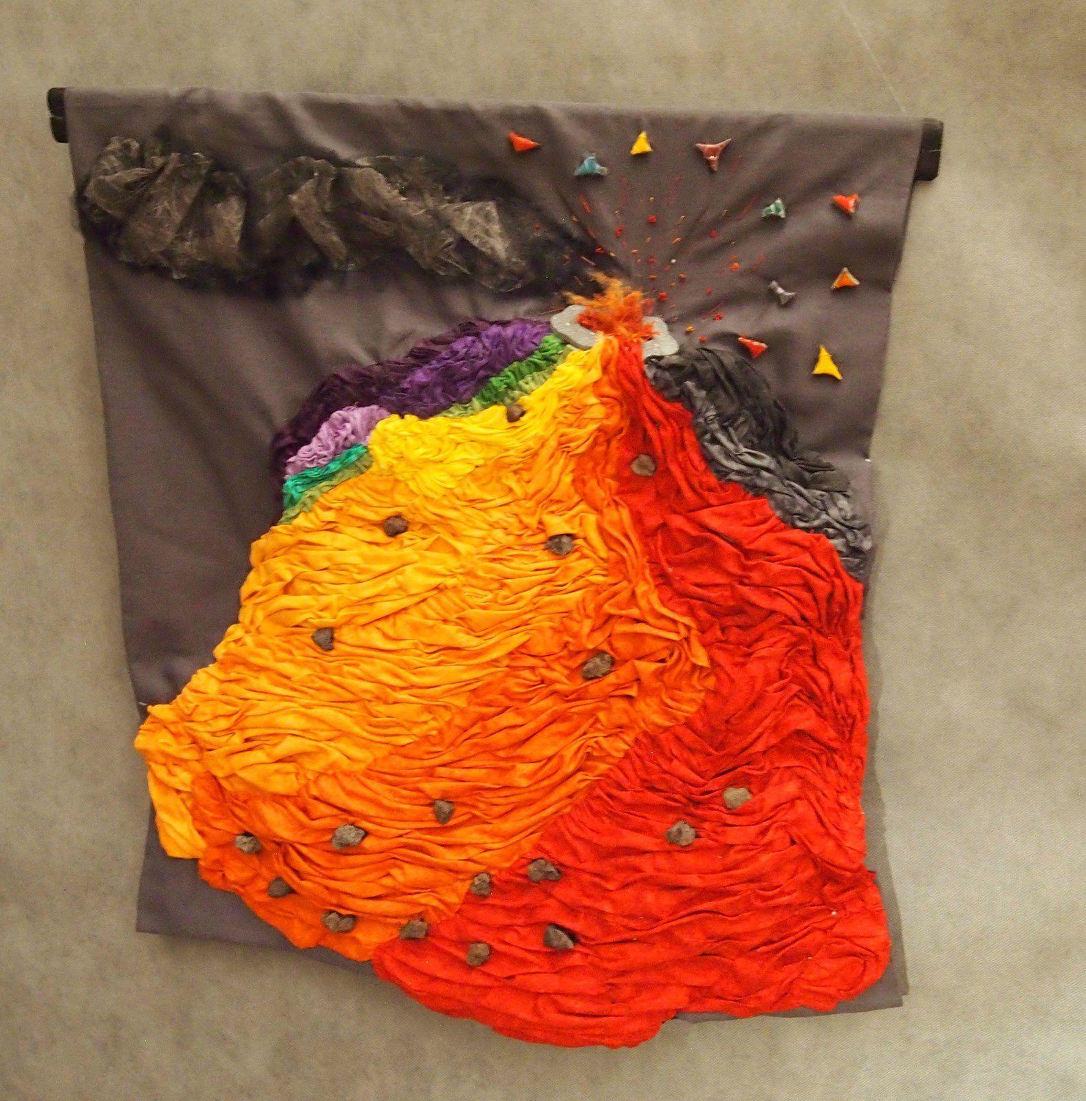 Textiles et lave émaillée