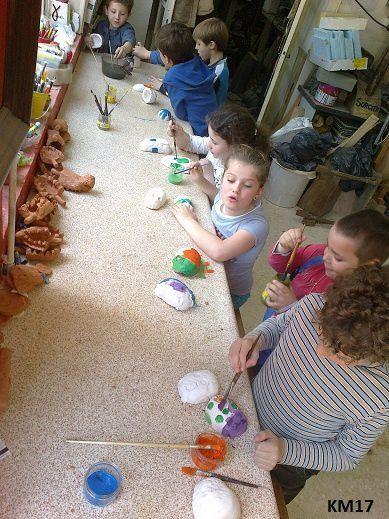 Sculpture enfants FL : les oeufs de pâques