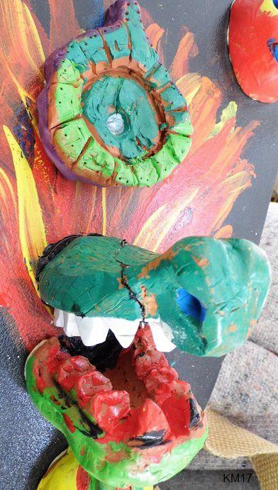 Sculpture enfants Boucliers 2 : gueules de dragons