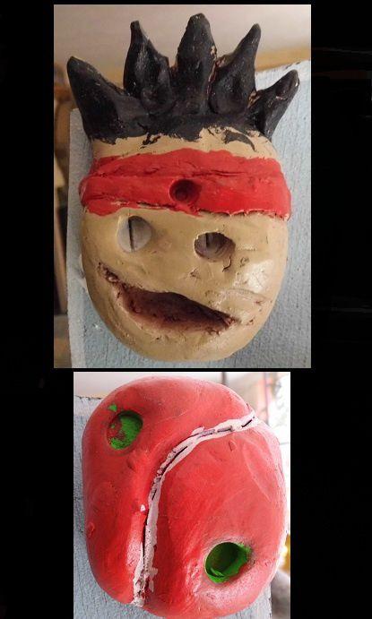 Sculpture enfants Boucliers 3 : les émoticônes