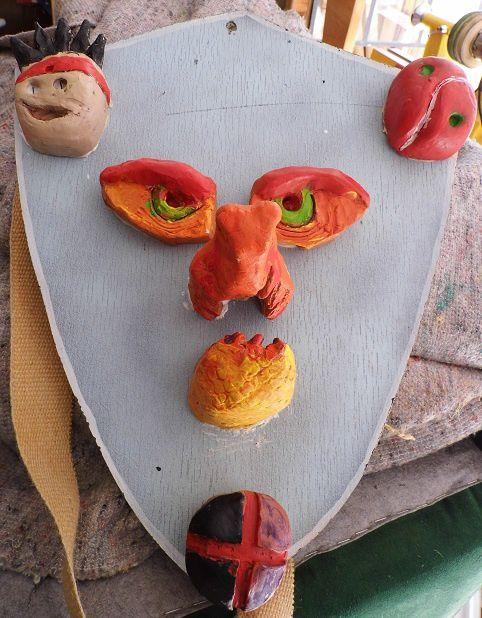 Sculpture enfants Boucliers 5 : les boucliers