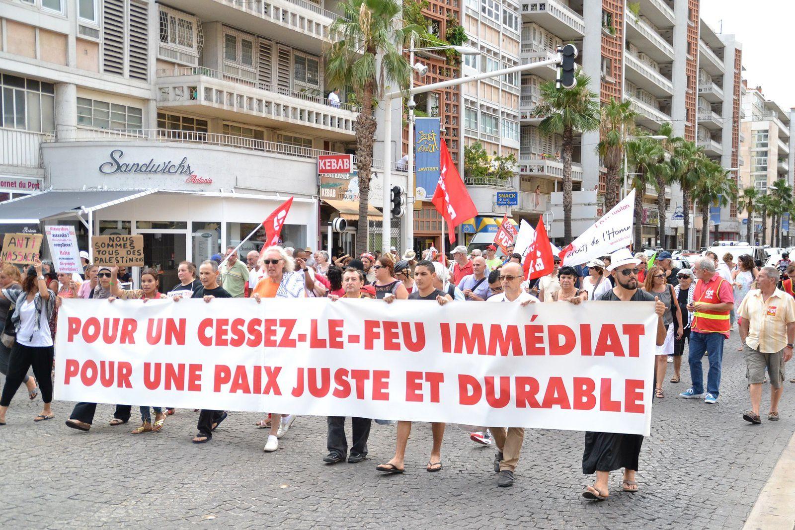 Toulon Solidarité Palestine/Gaza manif samedi 2 août (photos 1)