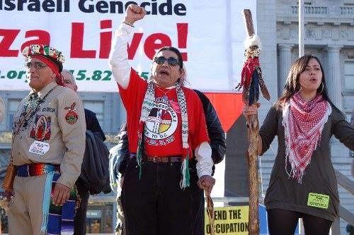 Les Indiens d'Amérique soutiennent Gaza